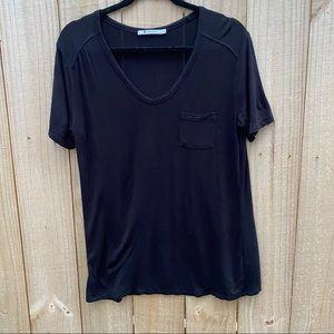 ALEXANDER WANG Short Sleeve T-Shirt Top Pocket S